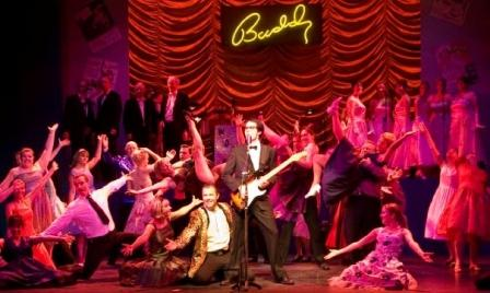 Sutton Coldfield Musical Theatre Company on stage at the Lichfield Garrick during their production of Buddy