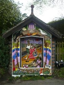 The decorated main well at Newborough