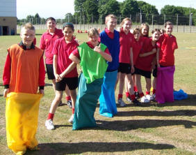 Chasetown Specialist Sports College students taking part in a mini-Olympics event