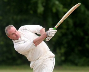 Peter Hart plays a shot. Pic: David Linney/Lichfield Diocese