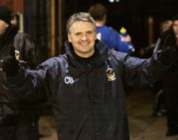 Charlie Blakemore celebrates another historic cup night. Pic: Dave Birt