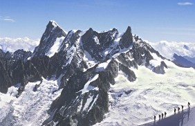 The Grandes Jorasse and Dent du Geant near Chamonix, France by David Keith Jones