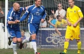 Gary Birch celebrates his goal. Pic: Dave Birt