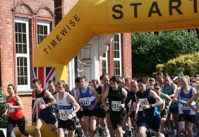 The start of the Lichfield Half Marathon