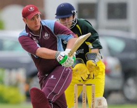 Joe Seager batting for Lichfield. Pic: Nigel Parker/www.format94.co.uk