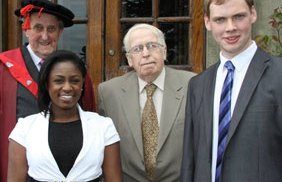 Dr Neville Brown, Genelle Aldred, John O'Leary JP and Jake Barras