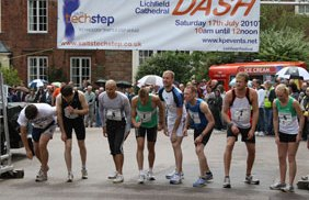 Athletes at the start of the 2010 Lichfield Cathedral Dash