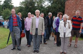 Streethay residents queue up outside the exhibition