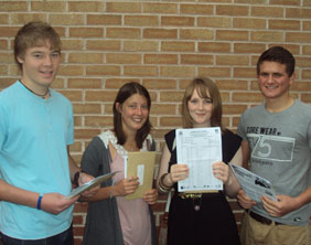Nether Stowe School students with their GCSE results