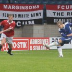 John Branch fires Chasetown ahead. Pic: Dave Birt