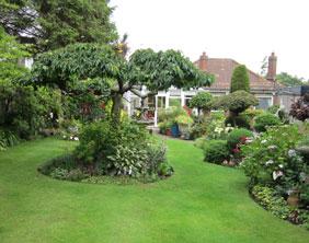 Judy and Brian Littler's rear garden