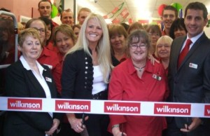 Kim Betts prepares to open the store with Wilkinson staff