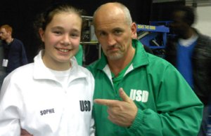 Sophie Capewell with Barry McGuigan