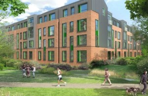An artist's impression of the Friary Outer development