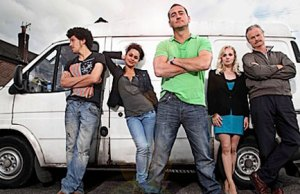 The cast of White Van Man