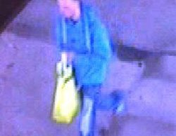A CCTV image of the man police want to speak to