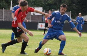 Action from Redditch United v Chasetown. Pic: Dave Birt