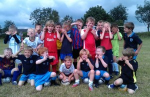 Youngsters at the Elford Boys soccer school