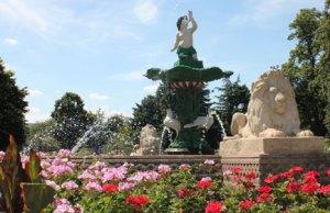 A restored fountain in Museum Gardens