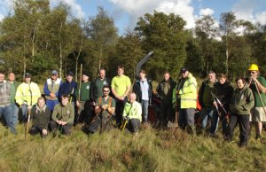 Volunteers at a Chasewater conservation event