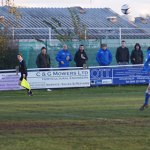 Danny Thurstance heads home Lichfield City's opener
