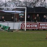 Simon Brown scores from the penalty spot. Pic: Dave Birt