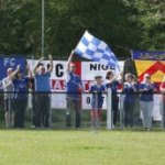 Chasetown's supporters celebrate. Pic: Dave Birt