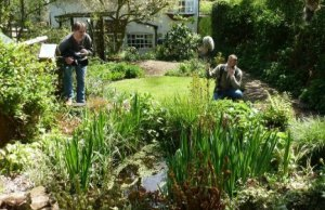 Springwatch filming in Wildlife Kate's garden