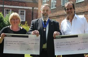 Jo Bailey, Cllr Ken Humphreys and Simon Price