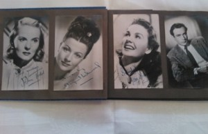 Some of the autographed pictures going under the hammer
