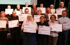 The Rt Revd Jonathan Gledhill with representatives from some of the groups who received Lent Appeal funding