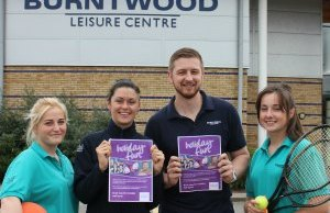 Burntwood Leisure Centre staff getting ready for the half-term fun