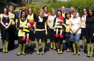 Some of the Busy Bees team gearing up for their world record attempt