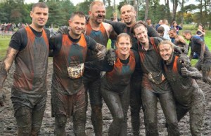 Competitors celebrate completing the Xtreme Challenge race