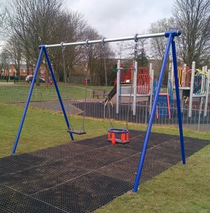 The new swings in Chase Terrace Park