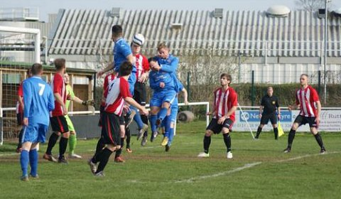 Action from Lichfield City FC versus Atherstone Town. Pic: Mick Tyler