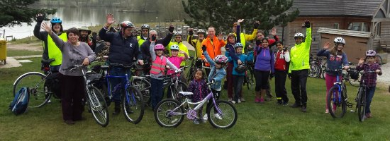 The Cycle Rides For All group at Fisherwick Lakes