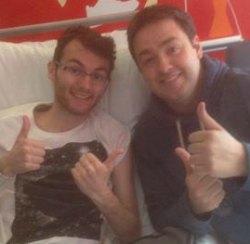 Stephen Sutton with Jason Manford