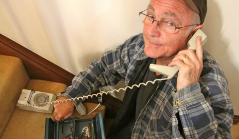 Barrie Atchison, who plays the telephone repair man in the Lichfield Players' forthcoming production of Barefoot in the Park