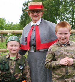 Young visitors to the Staffordshire Regiment Museum meet a nurse in World War One costume. Pic: Terry Fidgeon