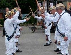 The Uttoxeter Morris Men perform