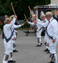The Uttoxeter Morris Men perform