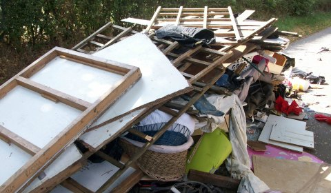 Some of the waste dumped on Hook Lane