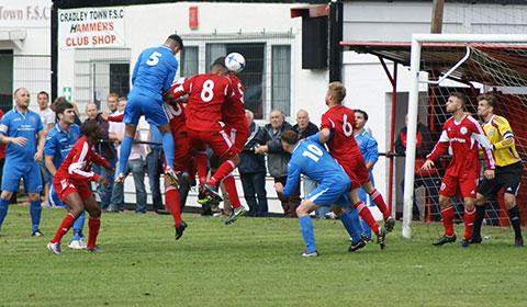 Lichfield City FC put pressure on the Black Country Rangers backline. Pic: Mick Tyler