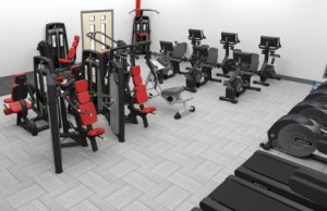 A graphic showing what the new Evolve Fitness gym will look like