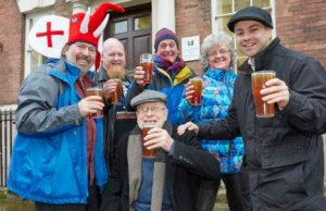 Organisers getting ready for the Lichfield Winter Beer Festival