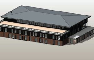 An artist's impression of the new Lichfield Police Station building