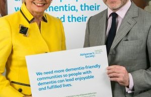 Alzheimer's Society ambassador Angela Rippon with Christopher Pincher MP