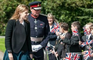 Princess Beatrice meeting students at Maple Hayes Dyslexia School