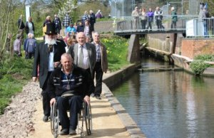 Paul Woolley, an advisor to spinal injury units at Oswestry and Sheffield, was the first to prove the Lichfield Canal Heritage Towpath Trail's suitability for wheelchair users at last spring's opening